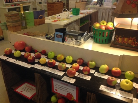 Heritage apple day.  Just a few varieties!